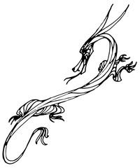 ink line dragon