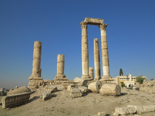 Jordan - ruins of Greek city of Philadelphia - columns