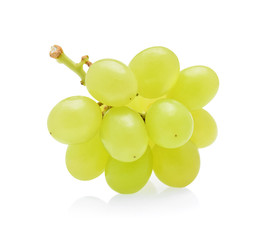 green grapes isolated on white background