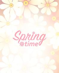 emblem with spring time, vector illustration