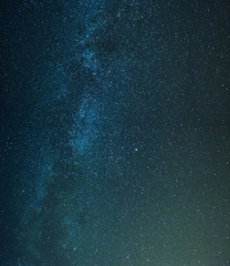 night sky covered with stars and milky way
