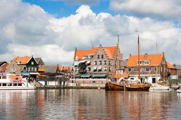 Touristic village of Volendam in Norht Holland, The Netherlands