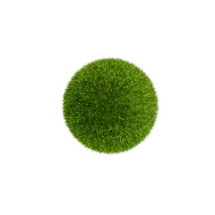 Grass ball, isolated on white, 3d render