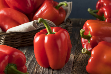 Raw Organic Red Bell Peppers