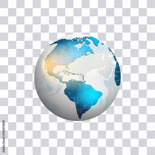 American continent earth globe isolated on transparent globe isolated on transparent background world map vector illustration gumiabroncs Images