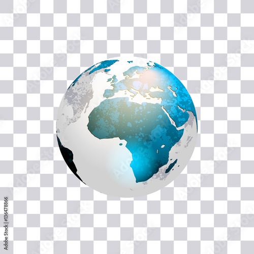 quotearth globe isolated on transparent background world