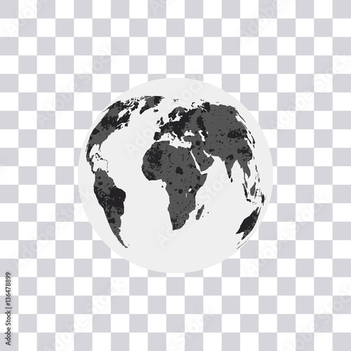 World map isolated on transparent background earth globe modern world map isolated on transparent background earth globe modern monochrome world map vector gumiabroncs Images