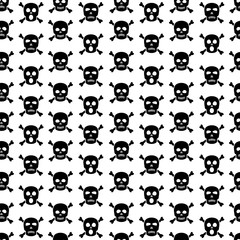 Skulls and crossbones seamless pattern