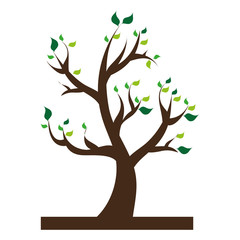 tree plant nature icon vector illustration design