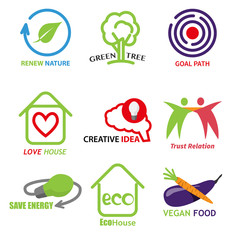 ecology creativity and business set