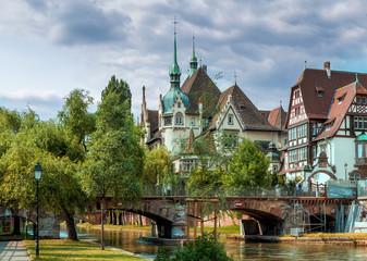 Красивое здание в Страсбурге