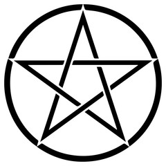 Religious sign. Wicca and Neopaganism. Pentacle. Vector Format.