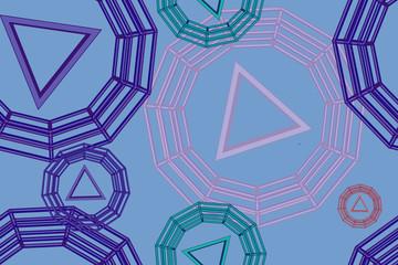 Seamless vector geometric strip pattern background