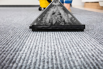 Vacuum Cleaner On Carpet