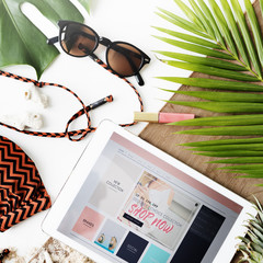 Beach Summer Sale Shopping Holiday Vacation Journey Concept