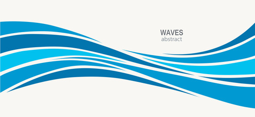 Water Wave Logo abstract design
