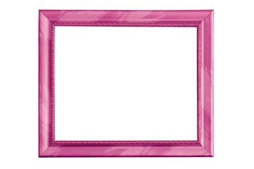 frame purple isolated on white background