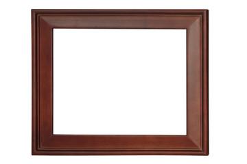 Old wood frame isolated on white background