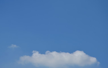 cloud floating on bright sky in sunny day