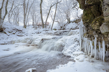 Stream with icicles