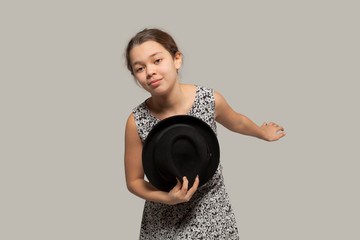 Gallant girl with hat