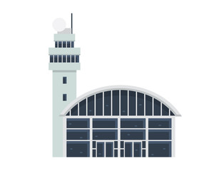Modern Flat Commercial Government Office Building, Suitable for Diagrams, Infographics, Illustration, And Other Graphic Related Assets -    Airport