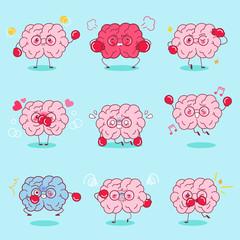 cartoon brain do different emotion