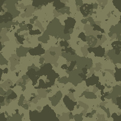 vector illustration of seamless military camouflage pattern