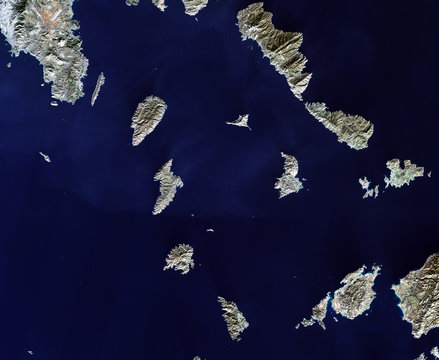 Greece from Landsat satellite.Elements of this image furnished by NASA