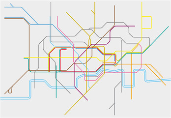 Vector map of London Undergound,Overground,DLR, and Crossrail