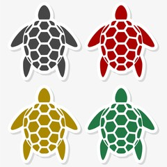 Turtle icon silhouette - Illustration