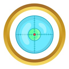 Optical sight vector icon