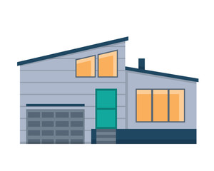 Modern Flat Luxury Minimalistic Residential House, Suitable for Diagrams, Infographics, Illustration, And Other Graphic Related Assets