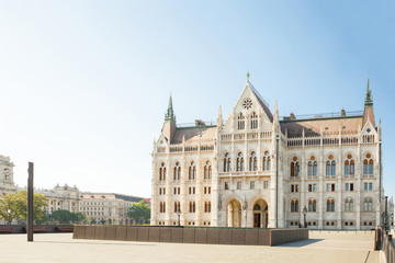 Backside of Hungarian Parliament building in Budapest, Hungary