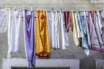 Facade, clothes, drying, Slovenia, Southern Slovenia, Piran