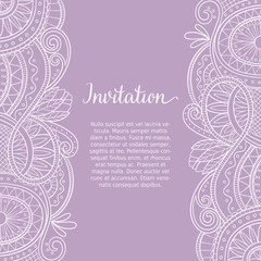 Han drawn boho style design for greeting cards, wedding invitations and backgrounds. Vector illustration.