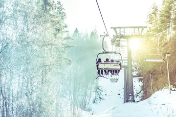 Ski Lift in Action