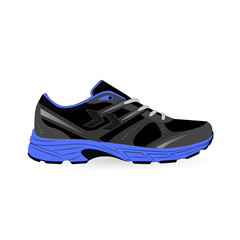 comfortable sneaker for training on colored background