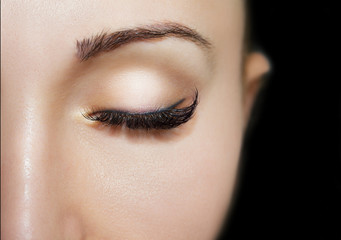 Beautiful Eyes Make up detail, perfect beauty eyebrows