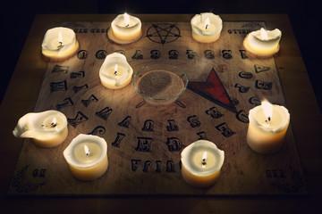 Spiritual board ouija ready for summoning