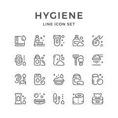 Set line icons of hygiene