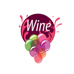 bunch of grapes for wine logo