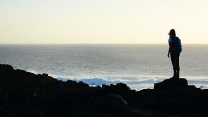 Backpacker by the Ocean