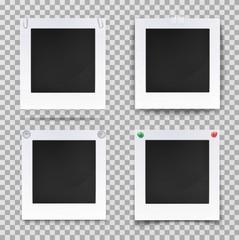 Retro photography square empty frames