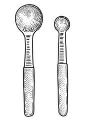Measuring spoon illustration, drawing, engraving, line art