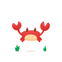 Crab vector isolated