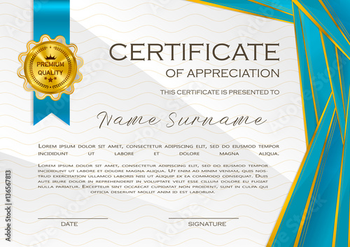 Qualification Certificate Of Appreciation Design Elegant Luxury