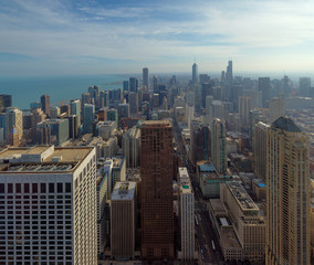 City of Chicago, Skyline at noon, illinois, USA