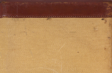 Detail of leather and woven texture for background