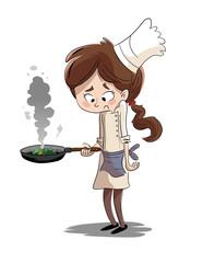 Search photos cocinera - Nina cocinando ...